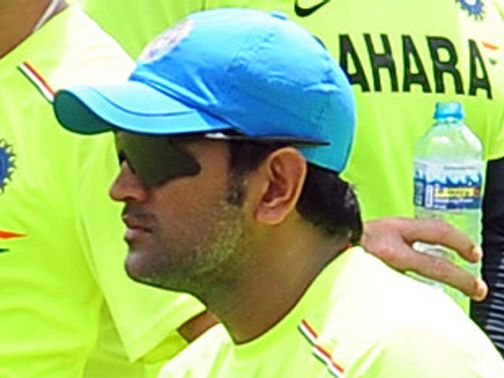 MS Dhoni: Struck on the thumb during nets