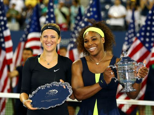 Williams (r) edged out Azarenka in New York