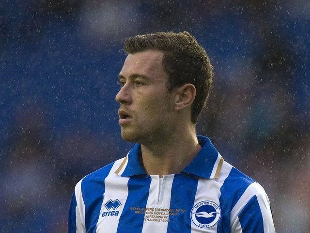 Ashley Barnes: Sent off in Brighton defeat