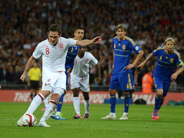 Lampard's late equaliser earned England a point