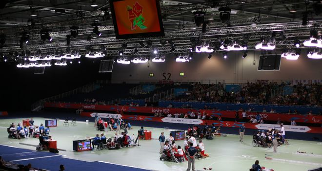 London's ExCel played host to the Paralympics boccia tournament