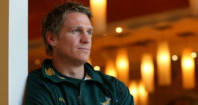 Jean de Villiers: Will win his 84th Test cap at Twickenham