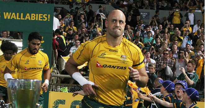 Nathan Sharpe: the only Australian in the team to have faced Argentina before