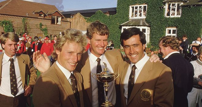 Three of the European stars: Langer, Lyle and Seve