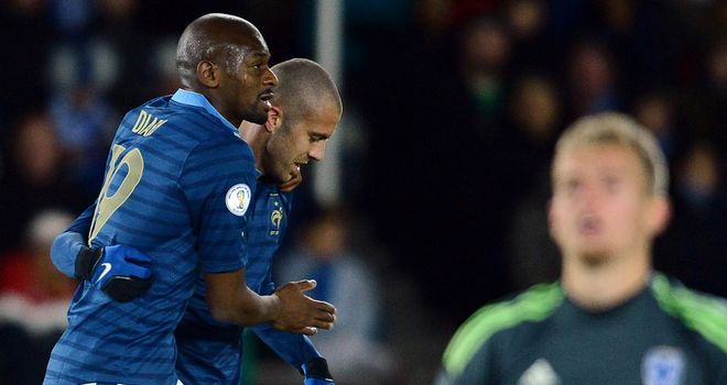 Abou Diaby: France's match-winner in the 1-0 victory over Finland