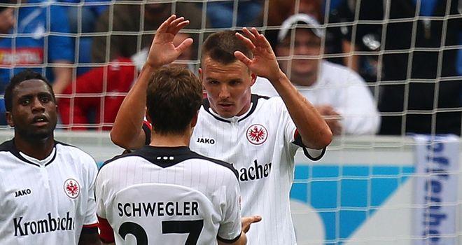 Alexander Meier: Celebrates opening the scoring