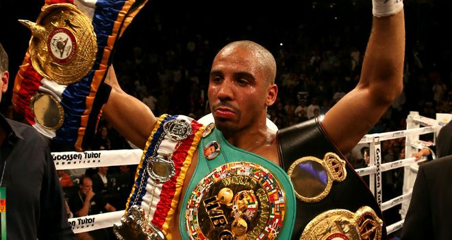 Andre Ward: set to defend his super-middleweight titles next against Kelly Pavlik