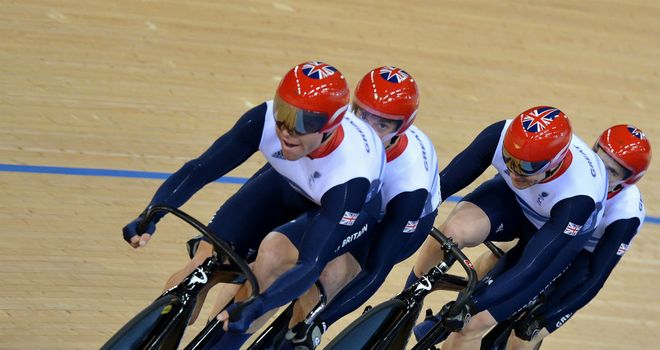 British para-cyclists: Topped the medal table at the London 2012 velodrome
