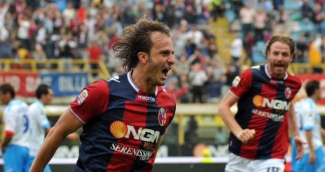 Alberto Gilardino is all smiles on Sunday.