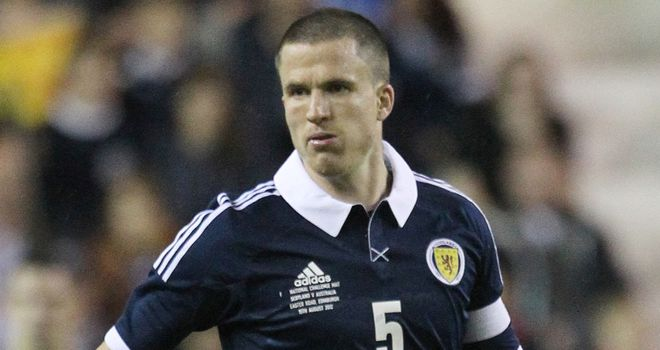 Gary Caldwell: Set to win his 50th cap against Serbia on Saturday