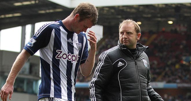 Chris Brunt: Suffered hamstring strain during Sunday's draw at Aston Villa