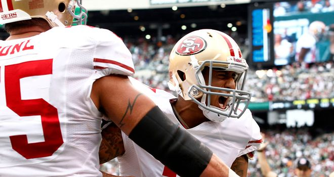 Colin Kaepernick: Ran in a touchdown for the 49ers