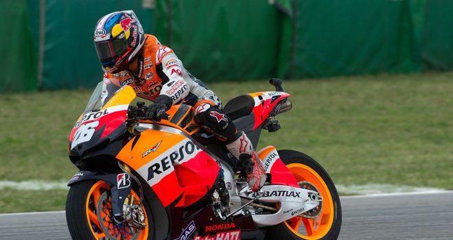 Dani Pedrosa: Will start from pole position in Misano
