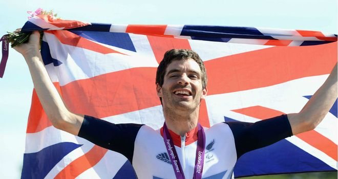 David Stone: successfully defended his Paralympic Games road race title