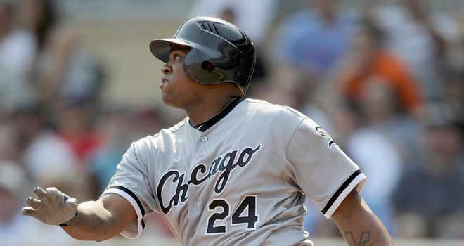 Dayan Viciedo hits out for the White Sox