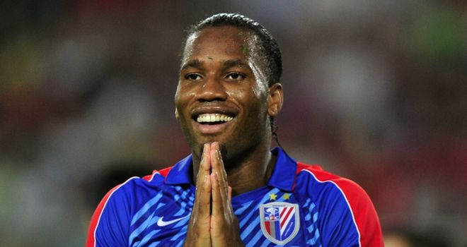 Didier Drogba: Very happy with life in China