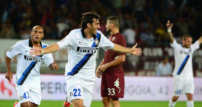 Diego Milito puts Inter Milan ahead