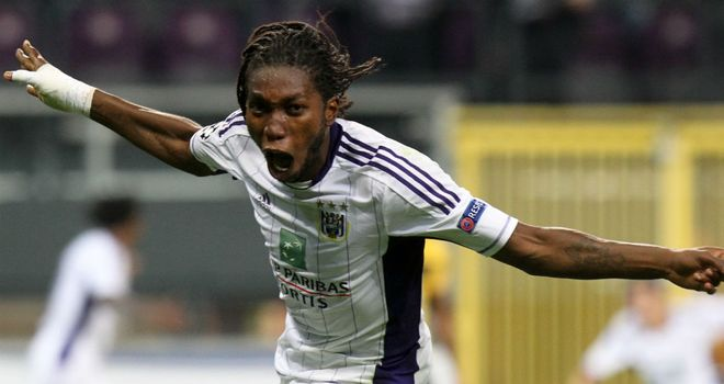 Dieumerci Mbokani: Was on target with Anderlecht's winner