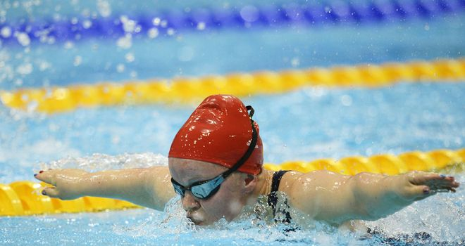 Ellie Simmonds: Set a world record in her 200 metres individual medley heat swim