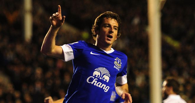 Leighton Baines: Everton defender suffered a hamstring injury against Arsenal