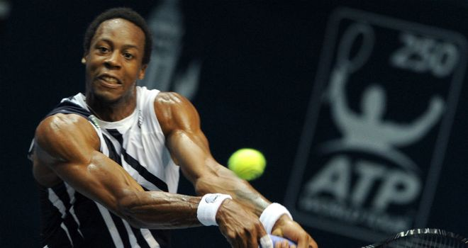 Gael Monfils: Came from behind to win his second round game of the Heineken Open