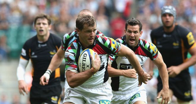 Attack: Quins were among many sides to adopt a forward-thinking approach last weekend