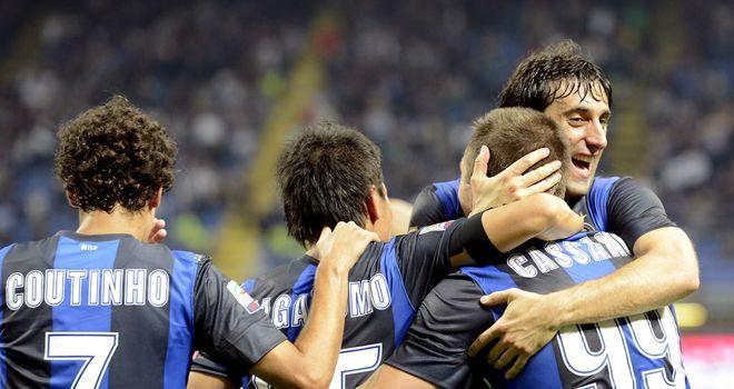 Inter: Celebrate Cassano goal