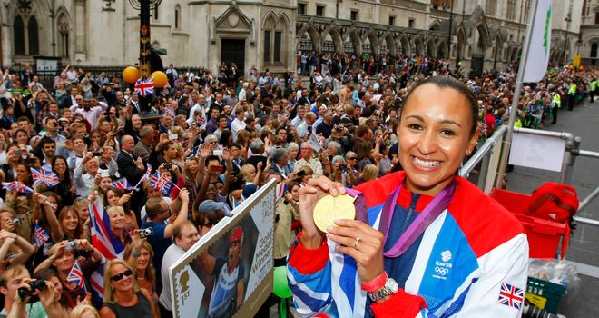 Ennis: Britain's golden girl at the Olympic Parade