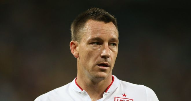 John Terry: Ruled out of match against Ukraine with ankle problem