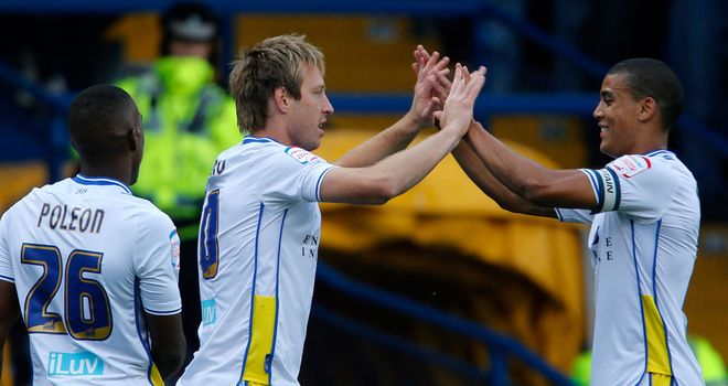 Becchio (c): Celeberates his opener