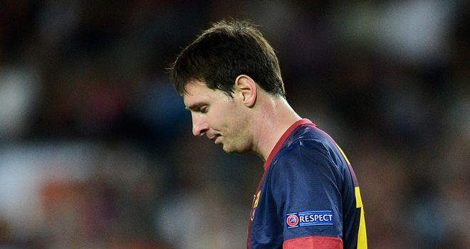 Messi: argued with Villa
