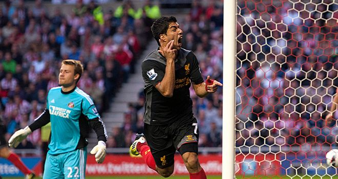 Luis Suarez: Was denied a penalty during Liverpool's defeat to United