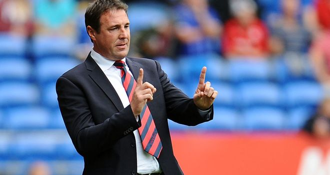 Cardiff City manager Malky Mackay will hope to keep the pressure on Brighton