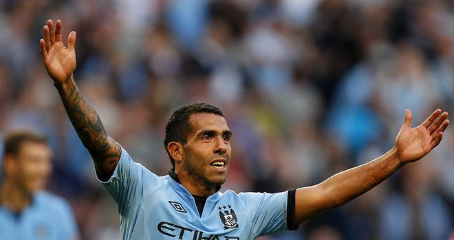 Carlos Tevez: Has started the season in fine form for Manchester City