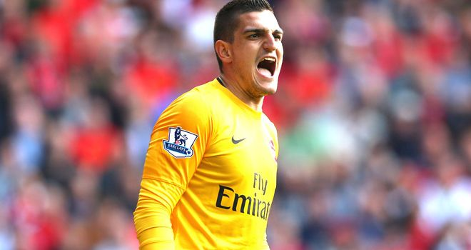 Vito Mannone: Upbeat on Arsenal's title hopes