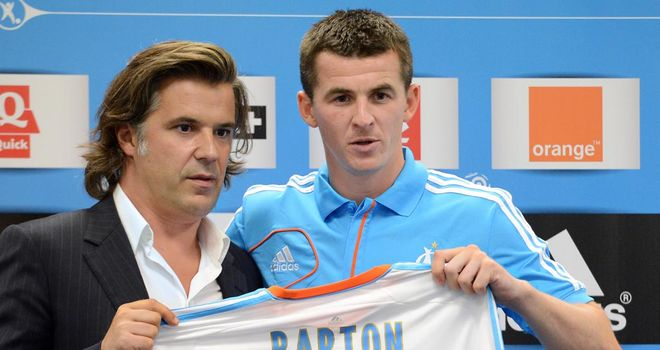 Joey Barton: Forced to miss nine games for Marseille after seeing his ban carried over to France