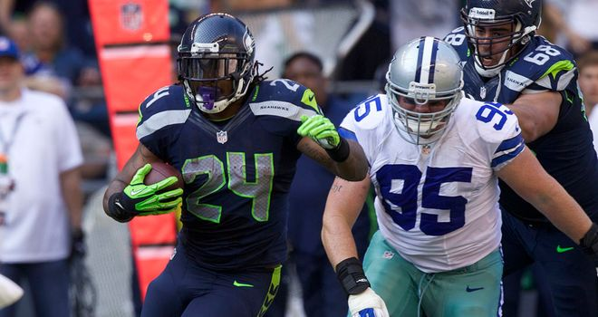 Marshawn Lynch: Tallied 122 rushing yards and a touchdown