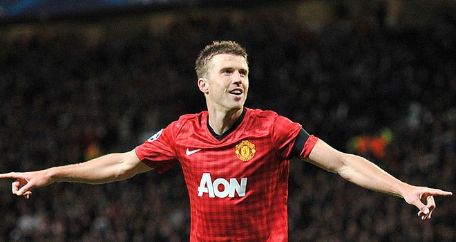 Michael Carrick: Midfielder satisfied with Manchester United's progress in the Champions League