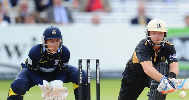 Michael Bates: Behind the stumps during the 2012 Clydesdale Bank 40 final