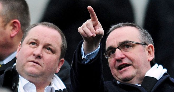 Derek Llambias (right): Newcastle managing director with owner Mike Ashley