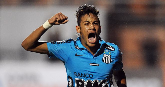 Neymar: Happy to remain with Santos for now