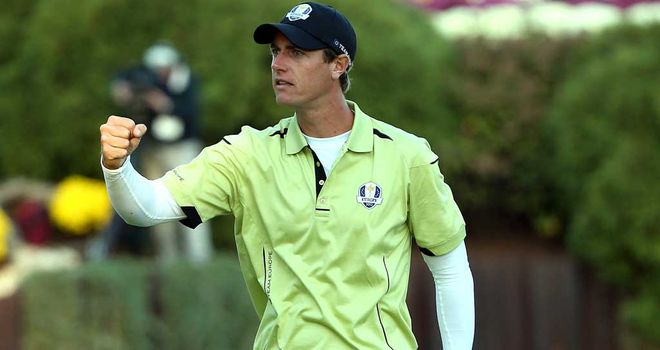 Nicolas Colsaerts: The Belgian rookie was 10-under on his own ball