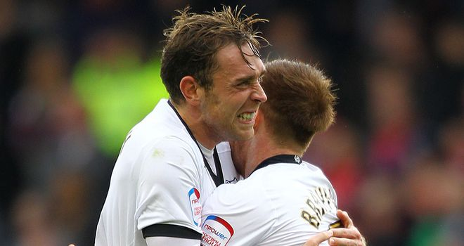 Richard Keogh and Craig Bryson: Both scored as Derby beat Peterborough