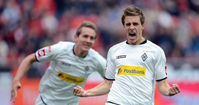 Patrick Herrmann celebrates his goal