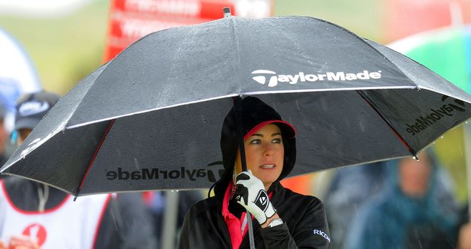 American Paula Creamer feeling the British weather at Carnoustie last year