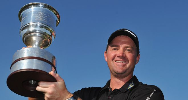 Peter Hanson: clinched a thrilling victory at the final hole after a difficult weekend