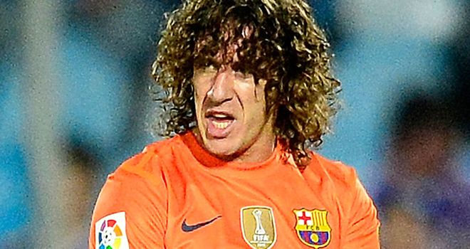 Carles Puyol: Facing up to six weeks on the sidelines after picking up a knee injury in the win over Getafe