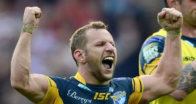 Rob Burrow: Called on fans to roar the Rhinos on against Wigan