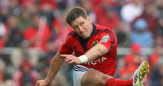 Ronan O'Gara: Paired with Peter Stringer for Munster