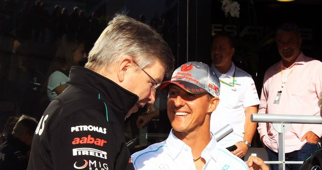 Ross Brawn: Says talks with Schumacher remain ongoing